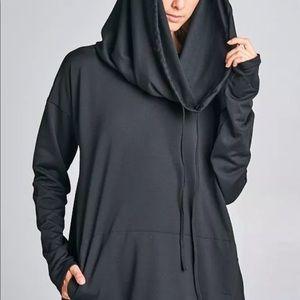 Oversized hoodie jacket minimalist sweatshirt goth